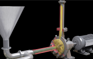 三维动画演示机械齿轮工作原理
