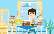 优雪电饭煲-mg扁平广告动画