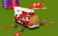 消防车-游戏卡通角色动画